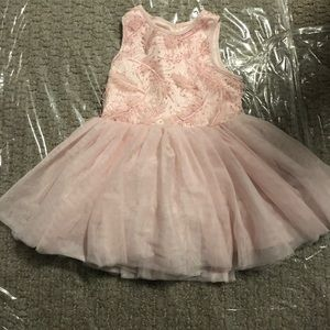 Pippa & Julie light pink feather dress 24 month